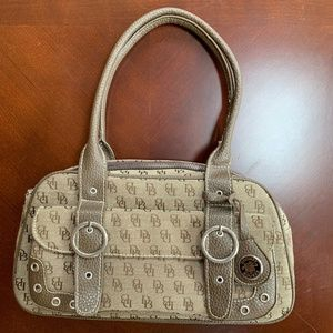 Dooney and Bourke Sig. Logo and Leather Satchel